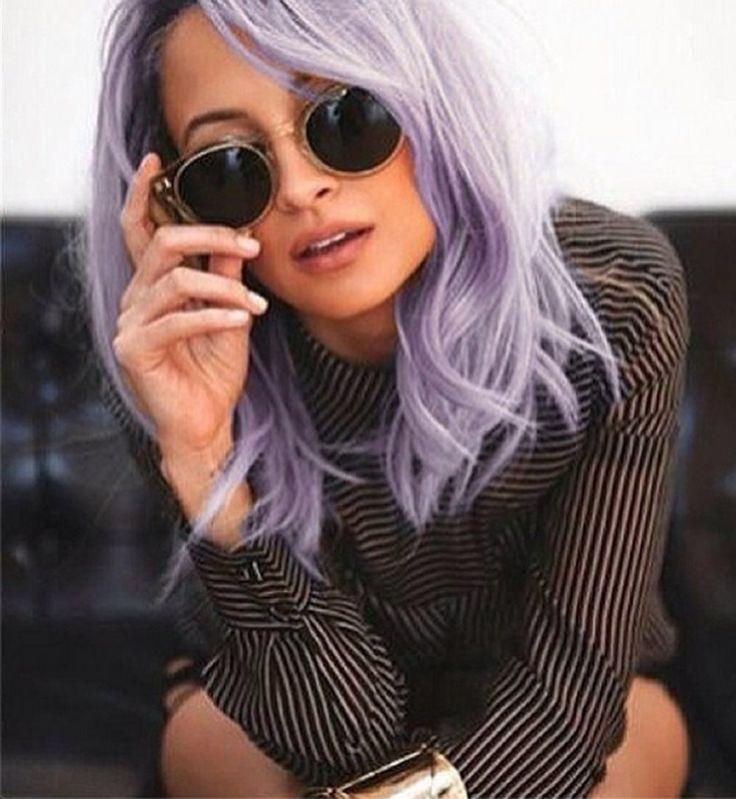 ¿Está el pelo morado nuevo cabello tendencia - Cosmopolitan.fr?