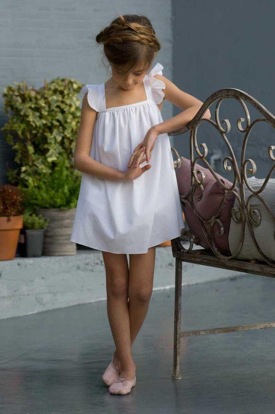 white vestido de verano de la cinta
