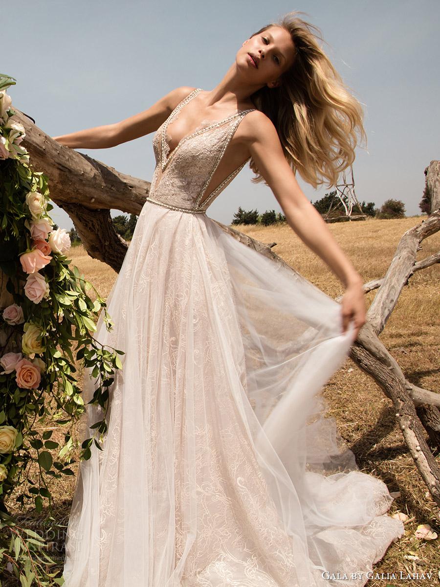 vestido de novia aline profunda vneck gala galia primavera Lahav 2017 mangas (711) fv