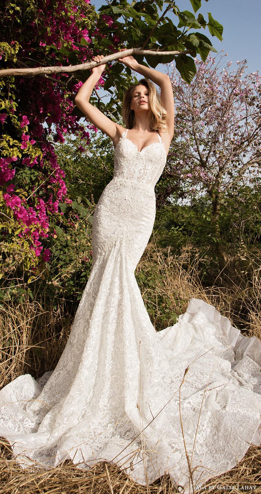 Gala galia sirena vestido de novia de encaje (707) tren mv