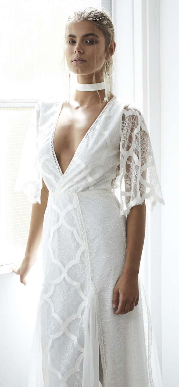 Gracia ama cordón - Blanc Colección Nupcial 34