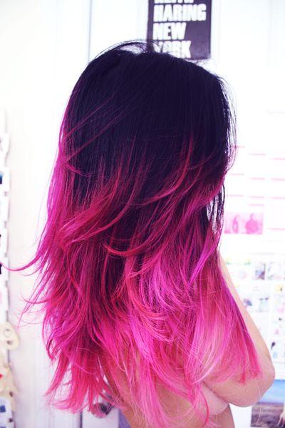 color morado y rosa ♥ pelo