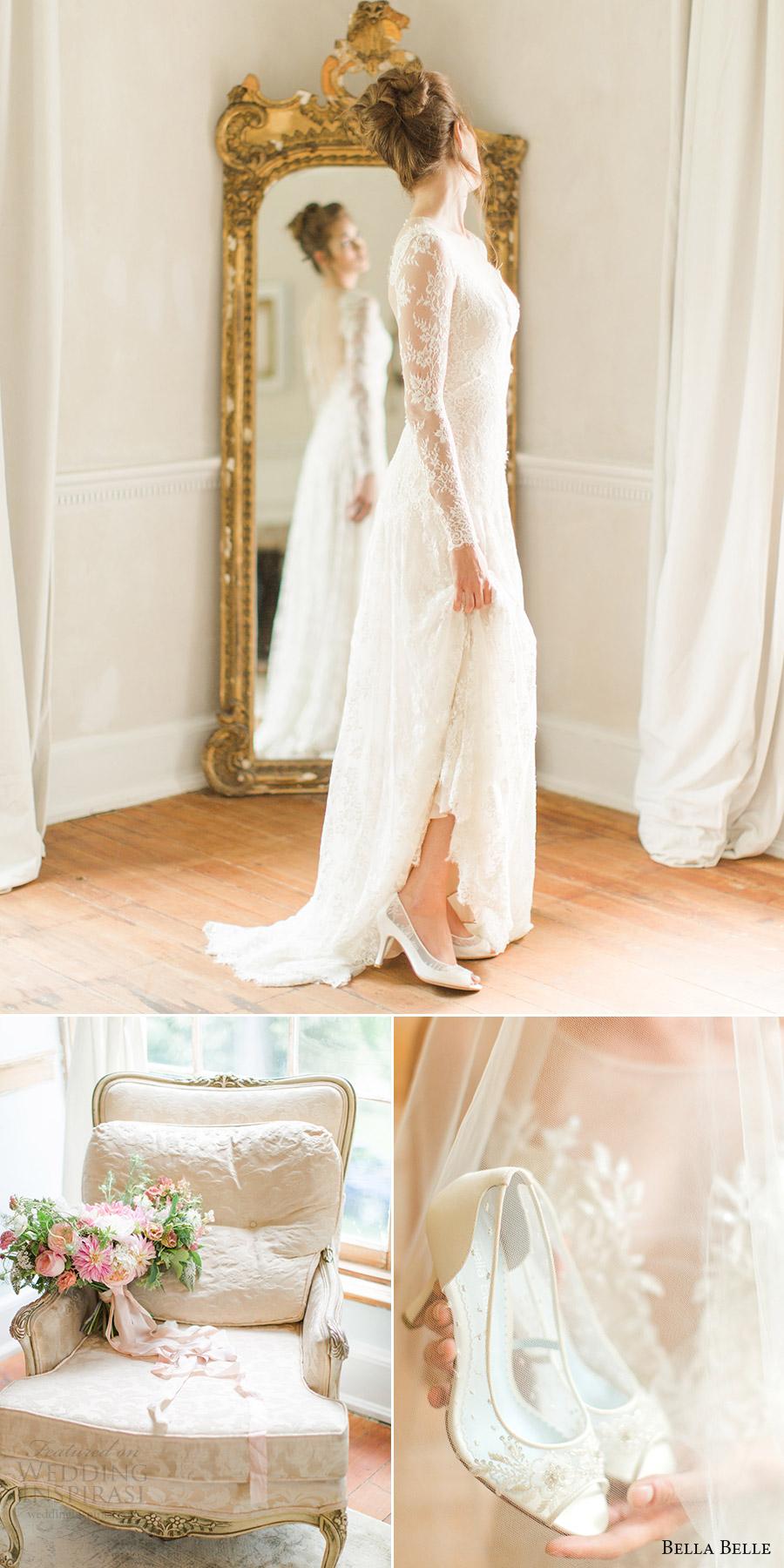 bella belle zapatos de novia 2016 miranda talones boda peep toe zapatos de cordones abiertos de Mandy