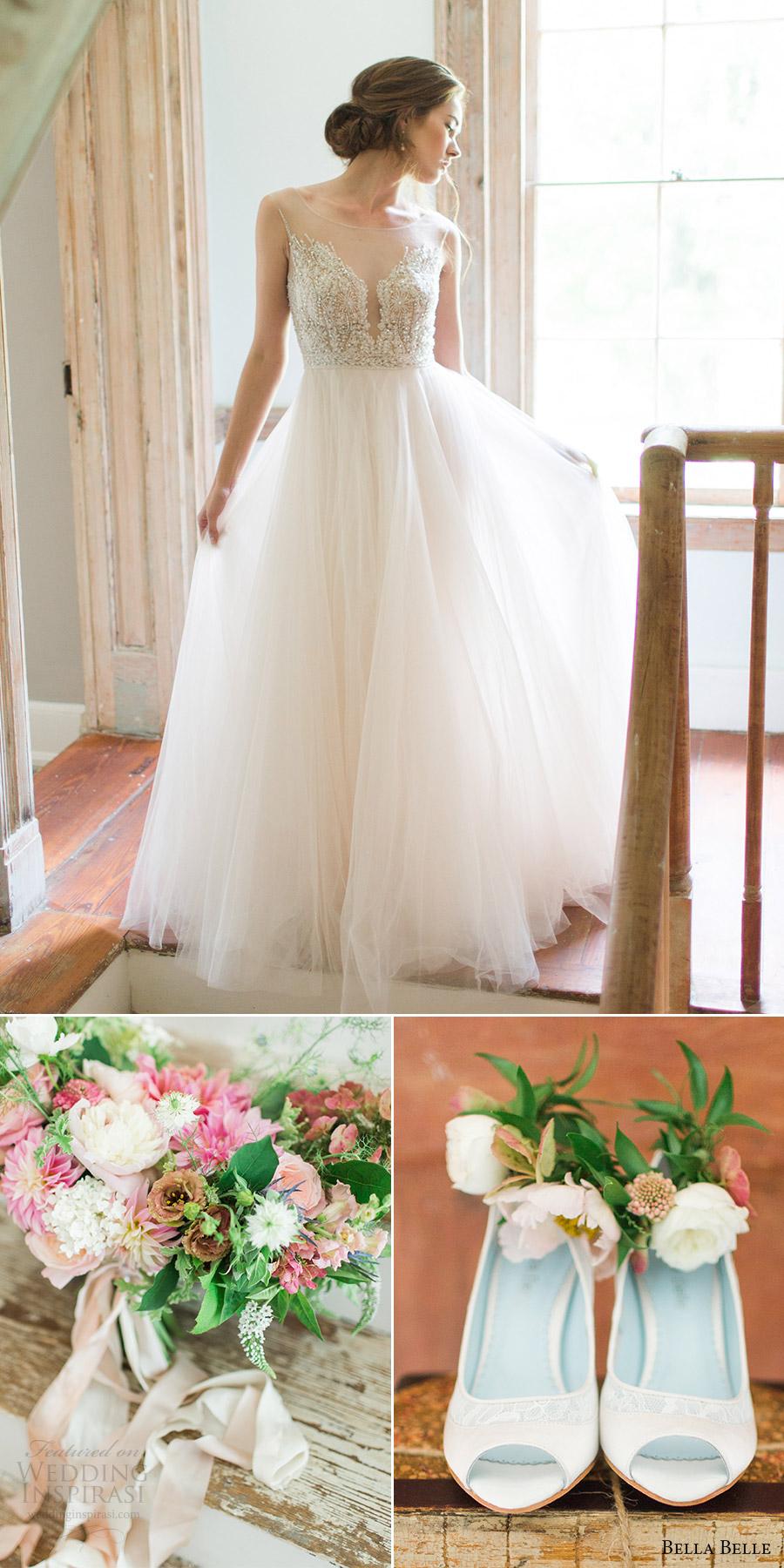 bella belle zapatos de novia 2016 zapatos de la boda talón miranda watters vestido