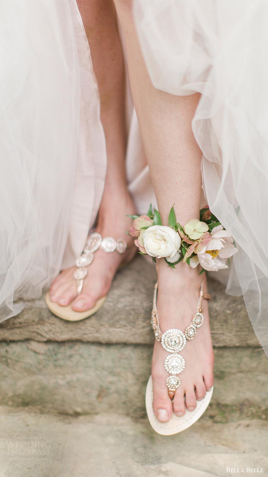 bella belle zapatos de novia 2016 myra sandalias de diamantes de imitación de la boda para las bodas de destino