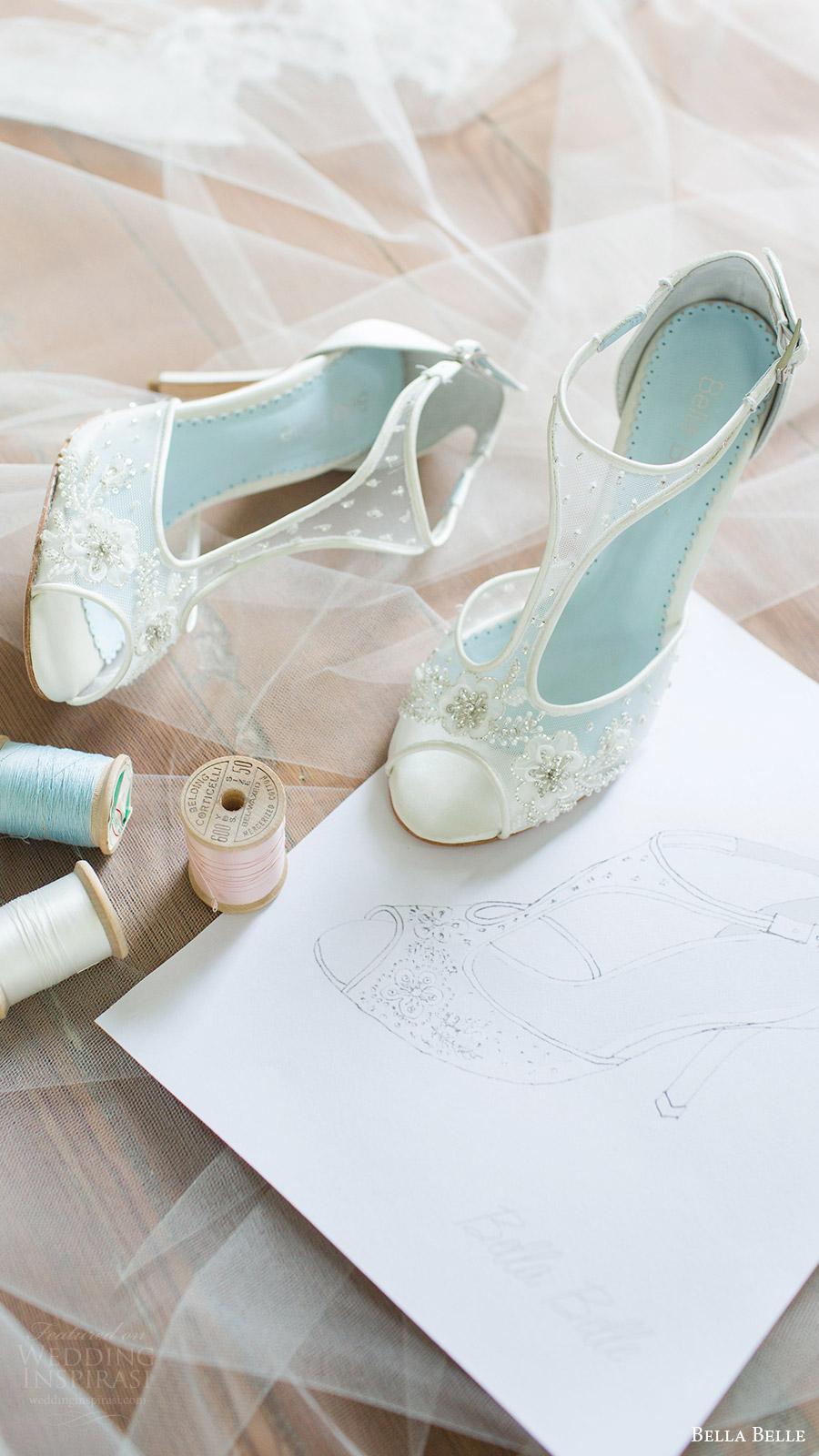 bella belle zapatos de novia 2016 paloma tacones peep toe t correa