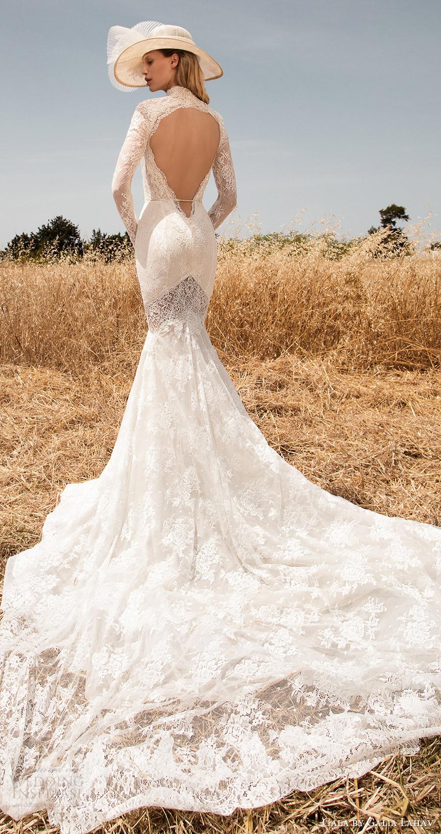 traje de gala galia Lahav primavera 2017 mangas largas ilusión de profundidad vneck boda de la sirena del cordón (701) bv ojo de la cerradura tren de retorno a largo