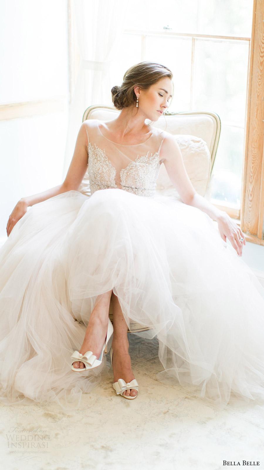 bella belle zapatos de novia 2016 zapatos Julia D Orsay peep toe de la boda zapatos de tacón de 3,5 pulgadas watters Wtoo vestido