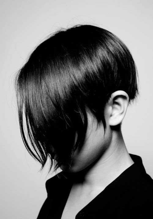 cortes de pelo corto para las mujeres asiáticas lindas