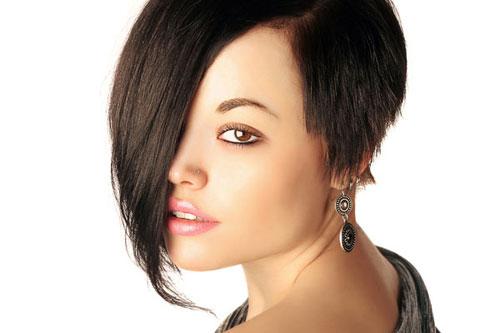 cortes de pelo corto para el cabello asiático recta