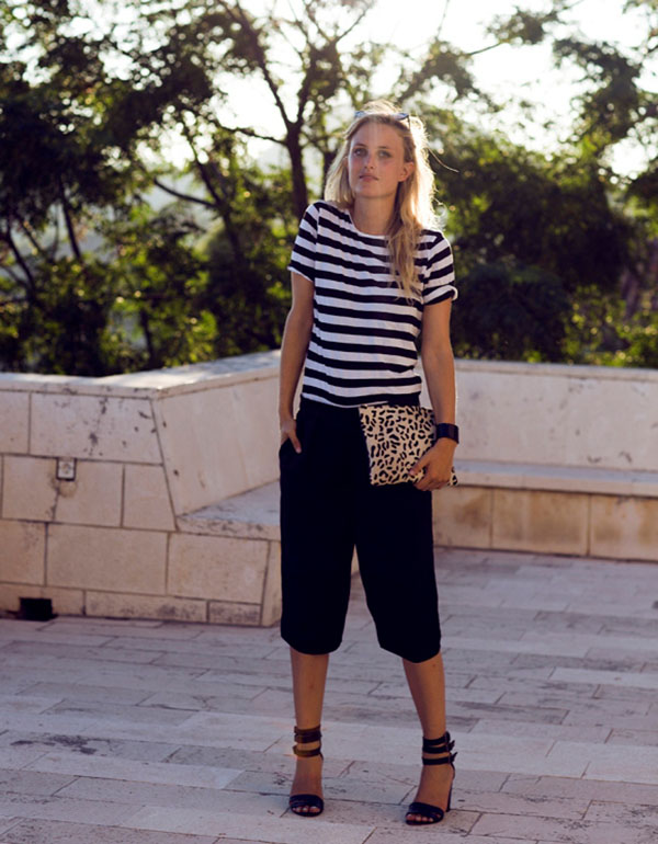 bermuda-shorts-and-casual-strpied-tee