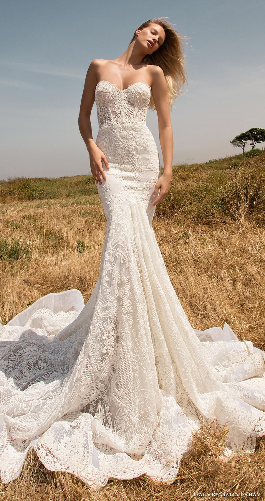 vestido mv Gala de primavera galia Lahav 2017 sin tirantes de sirena de la boda del amor del cordón (704) de tren mv