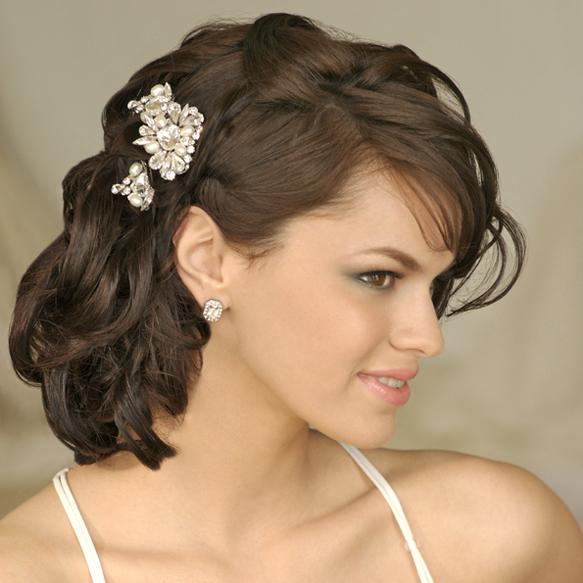 chic-medio-pelo-boda-peinados-3 583