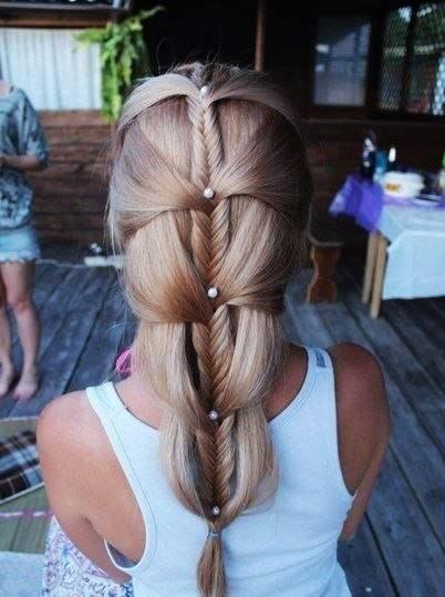 trenza oído #coiffure #tresse #cheveux