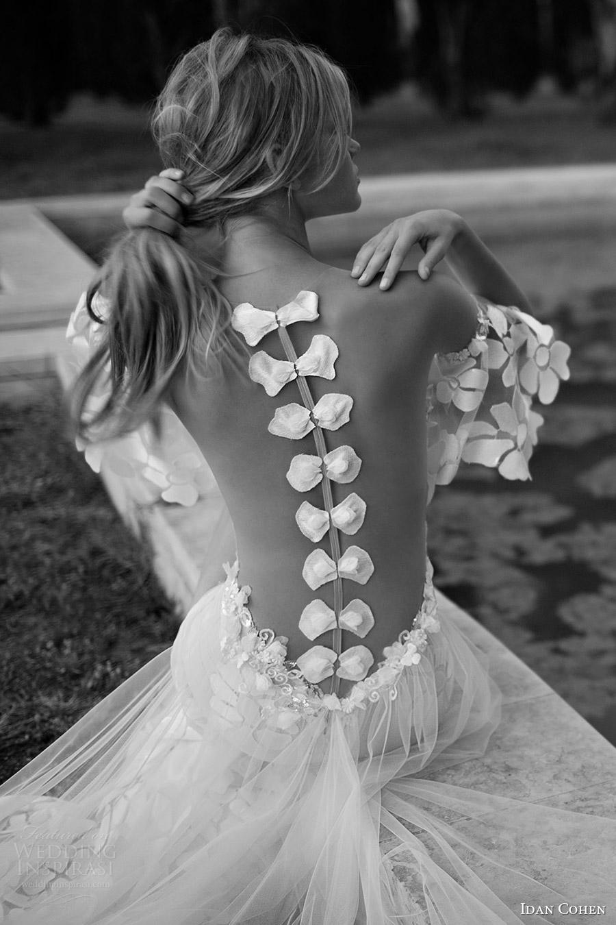 vestido de Idan Cohen nupcial 2017 aleteo novia de la vaina manguito partido novia (37) bv dividida falda del arco ilusión volver