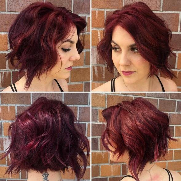 el cabello-mediados de longitud-ondules-12
