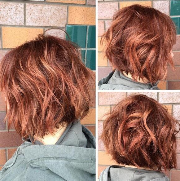 el cabello-mediados de longitud-ondules-13
