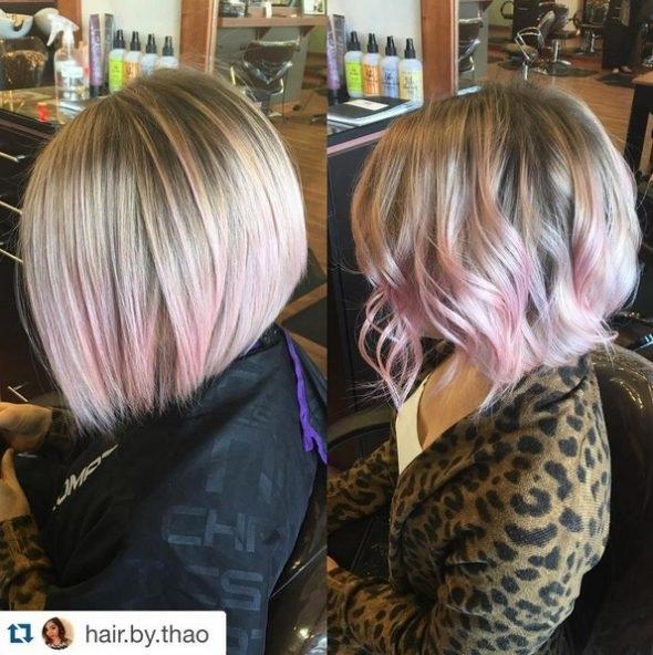 el cabello-mediados de longitud-ondules-18