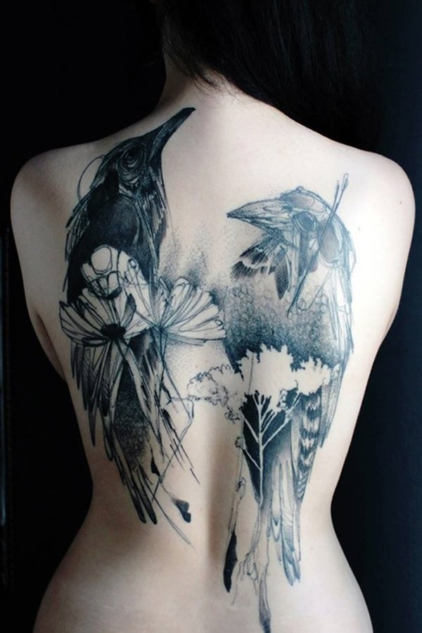 40 Back Tattoo Ideas for Girls 3