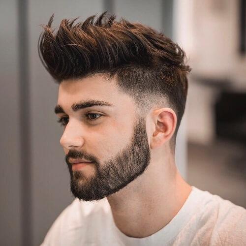 Cepillado Capas de Cortes de pelo para Hombres