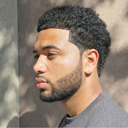 La línea de Afro Peinados para Hombres