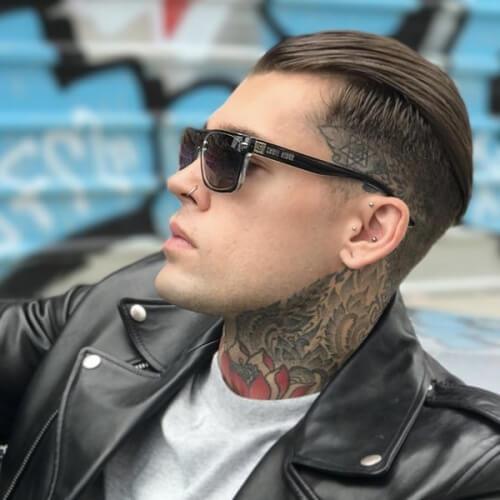 Peinado hacia Atrás Punk Peinados para Chicos
