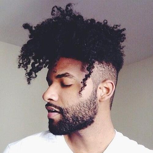 Rizado Flequillo Afro Peinados para Hombres