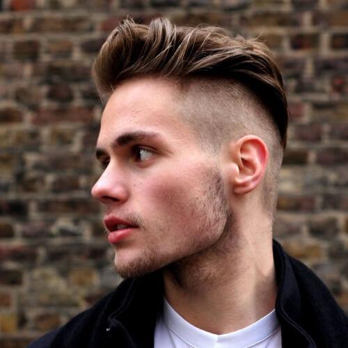 Afeitado Lados Peinados
