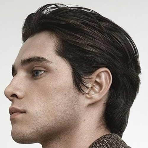 Peinado hacia Atrás Capas de Cortes de pelo para Hombres