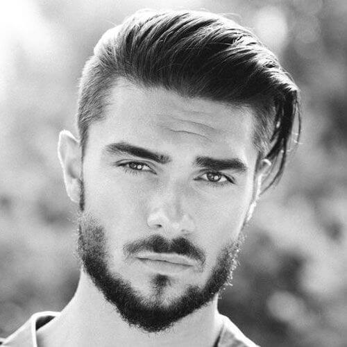 Peinado hacia Atrás Peinados Modernos para Hombres