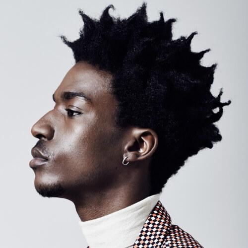 Spiky Afro Peinados para Hombres