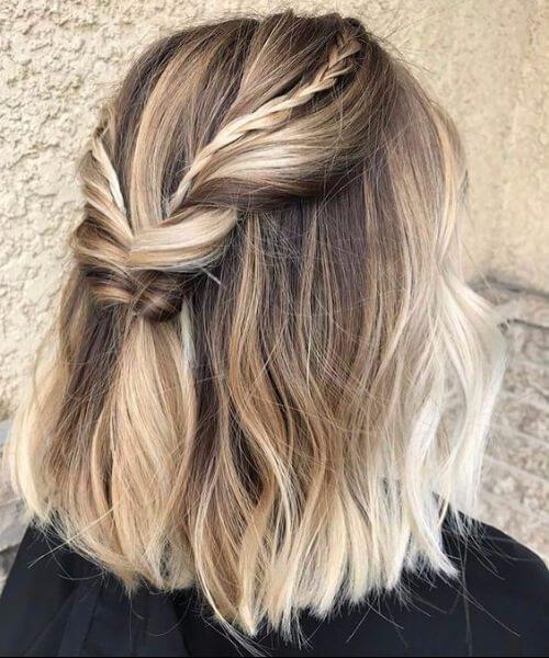 balayage corto cabello rubio sucio