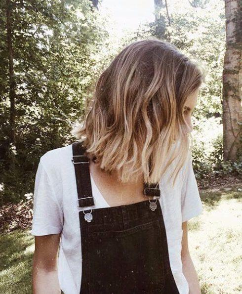 básicos de la rubia de pelo corto ombre