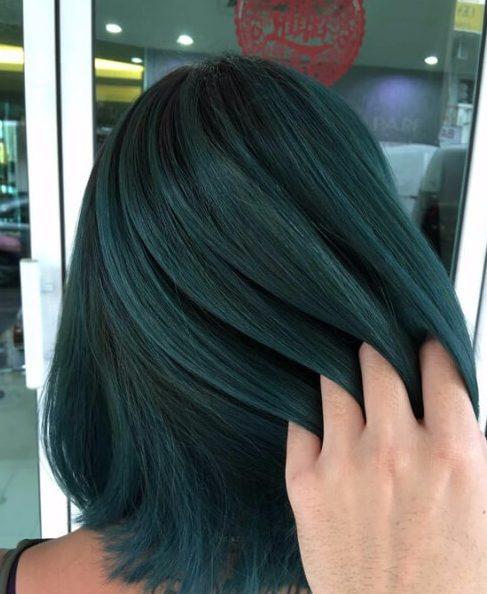 bosque verde balayage el pelo corto