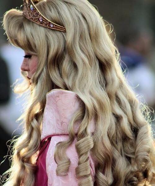 la bella durmiente peinados de boda para el pelo largo