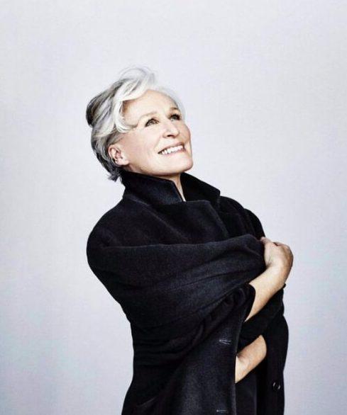 glenn close peinados para mujeres mayores de 60 años