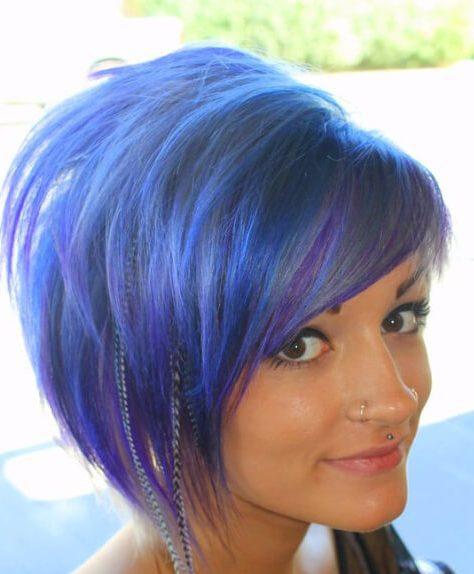 inky balayage el pelo corto