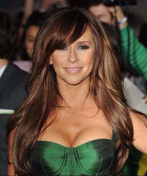 jennifer love hewitt, de pelo largo con flequillo