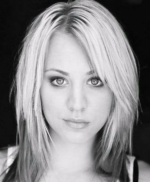 kaley cuoco long bob cortes de pelo