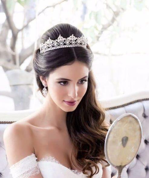 la princesa peinados de boda para el pelo largo