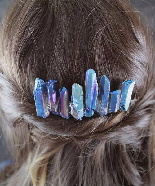 los cristales de peinados de boda para el pelo largo