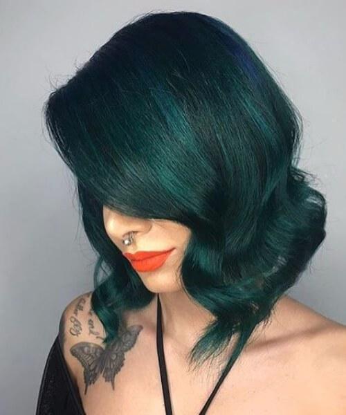 verde musgo balayage el pelo corto
