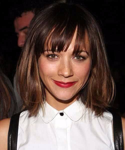 rashida jones long bob cortes de pelo