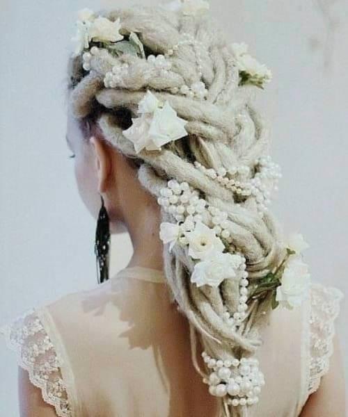 rastas peinados de boda para el pelo largo