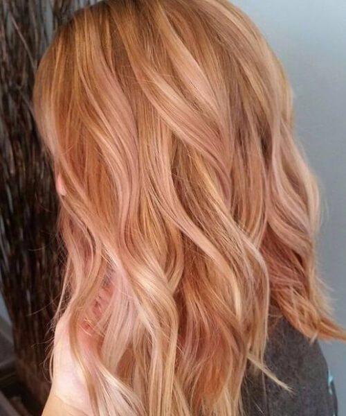 rosa de oro rubia balayage