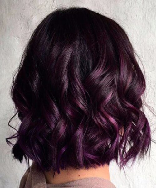 royal purple balayage el pelo corto