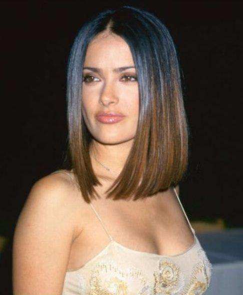 salma hayek long bob cortes de pelo