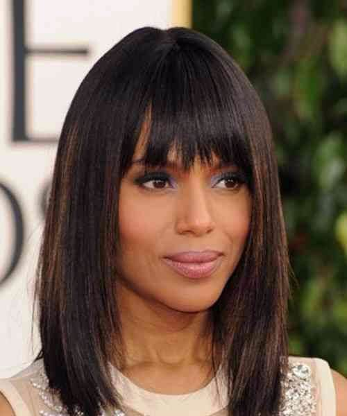 kerry washington pelo corto con flequillo