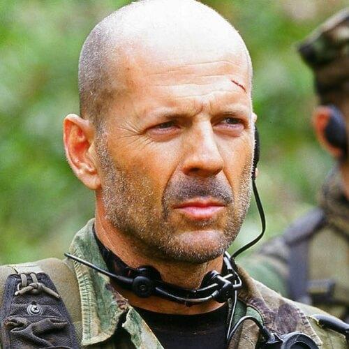 Bruce Willis Peinados para Hombres Calvos