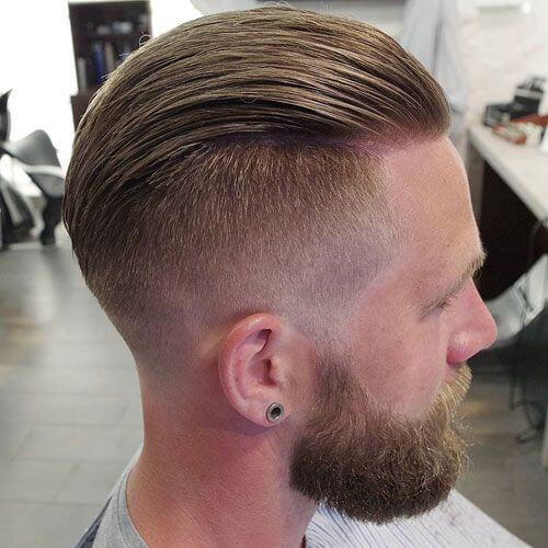 Peinado hacia Atrás Cortes de pelo para Calva en la parte de Atrás